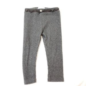 Zara Baby Ribbed Leggings with Ruffle Button